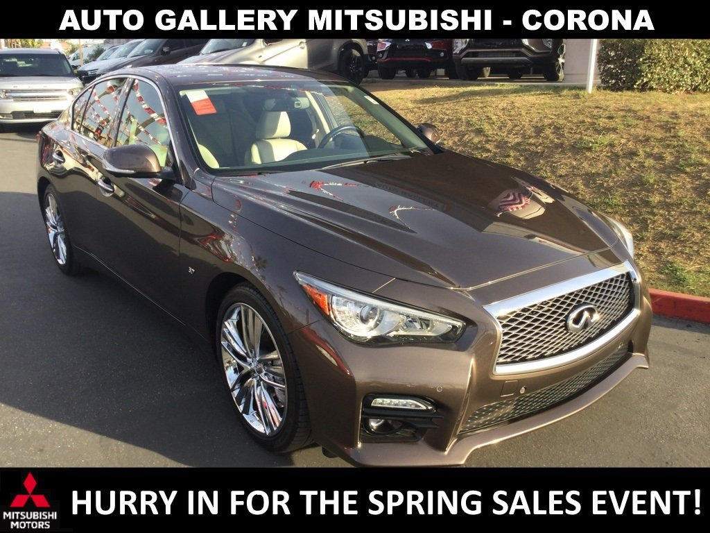 Pre-Owned 2015 INFINITI Q50 Sport With Navigation